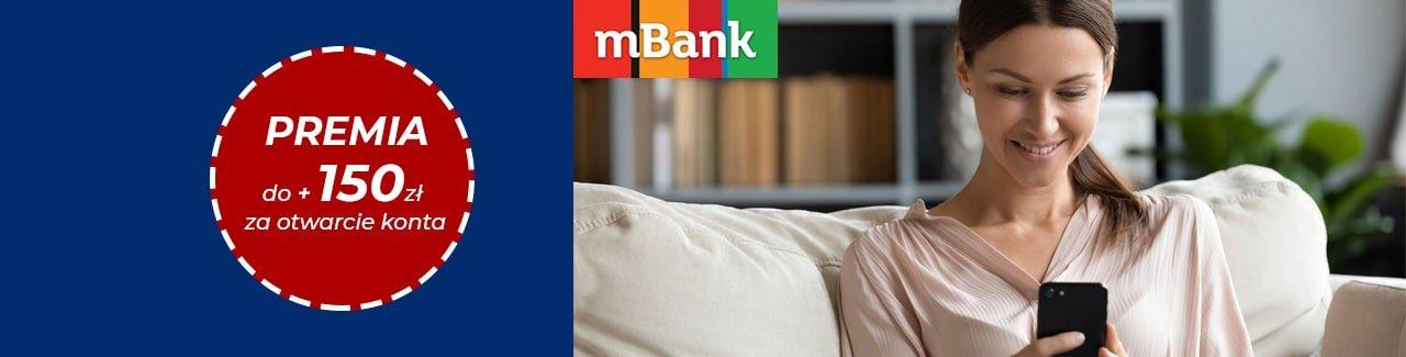 mBank premia ekonto 150 zł styczeń - maj 2021