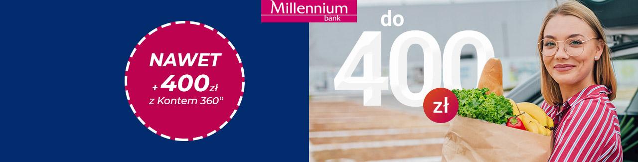 Nawet 400 zł z Bankiem Millennium i Mastercard® maj - czerwiec 2021