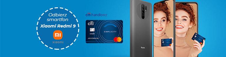 Odbierz smartfon Xiaomi Redmi 9 z Kartą Kredytową Citibank maj - lipiec 2021 768px